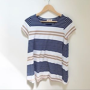 Anthropologie puella striped blouse XS